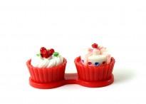Контейнер для линз Cupcake Пирожное красное