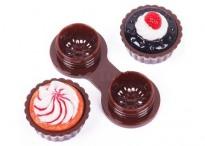 Контейнер для линз Cupcake Пирожное коричневое