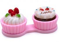Контейнер для линз Cupcake Пирожное розовое