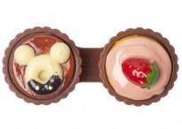 Контейнер для линз Cupcake Пирожное светло-коричневое