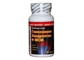 Глюкозамин хондроитин+мсм, earths creation