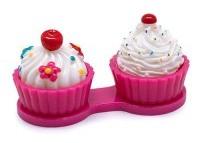 Контейнер для линз Cupcake Пирожное ярко розовое